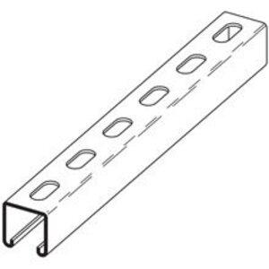 "Cooper B-Line B52SH-120GLV Channel - Elongated Holes, Steel, Pre-Galvanized, 1-5/8"" x 13/16"" x 10'"