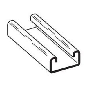 "Cooper B-Line B54-120-GLV Channel - No Holes, Steel, Pre-Galvanized, 1-5/8"" x 13/16"" x 10'"