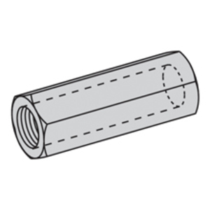 Cooper B-Line B655-1/2ZN Threaded Rod Coupling, 1/2 In, Steel - Zinc Plated