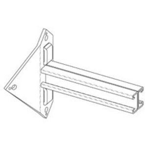 Cooper B-Line B812-12ZN Utility Pole Bracket, 12-in. Depth, Zinc Plated