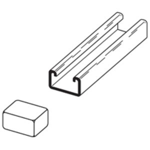 Cooper B-Line B852W Channel Safety End Cap, For Use With B52 Channel, Plastic