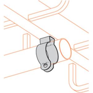 "Cooper B-Line BL1400 Conduit Hanger With Bolt, Rigid: 1/2"", EMT: 1/2"", Steel/Zinc"