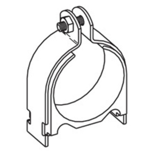 """Cooper B-Line BVT025SS4 Conduit Clamp, Type: Vibra-Clamp (Cushioned), Size: 1/4"""""""