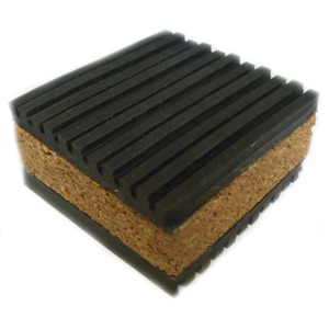 "Cooper B-Line CNP-16 Transformer Pad, Vibration, Cork & Ribbed Neoprene, 4"" x 4"""