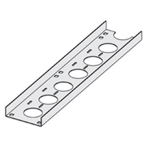 "Cooper B-Line GCC-03-24 Channel Cable Tray Straight Section, Ventilated, 3"" W x 2' L"