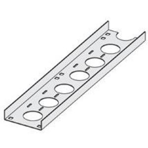 "Cooper B-Line SS4CC-04-144 Cable Tray Channel, Straight Section, Ventilated, 4"" Wide, 12' Long, Stainless Steel"