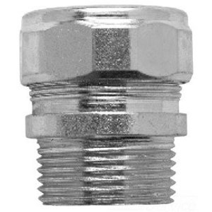 """Cooper Crouse-Hinds CG50450 Cord Connector, Straight, Male, Size: 1/2"""", Material: Steel"""