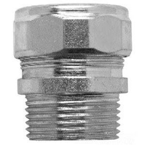 "Cooper Crouse-Hinds CG50560 Cord Connector, Straight, Male, Size: 1/2"", Material: Steel"