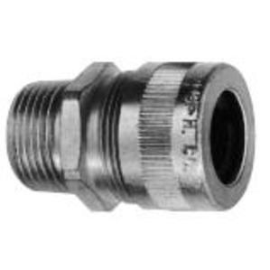 "Cooper Crouse-Hinds CGB294 Cord Grip, 3/4"", Straight, Male, Gland Nut & Neoprene Bushing, Steel"