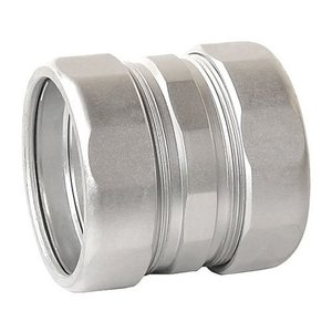 "Cooper Crouse-Hinds CPR21 Rigid Compression Coupling, 1/2"", Threadless, Malleable"
