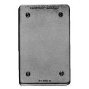 Cooper Crouse-Hinds DS100G Blank Cover, 1-Gang, Cast Aluminum
