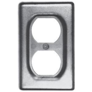 Cooper Crouse-Hinds DS23SA Duplex Receptacle Cover, 1-Gang, Aluminum