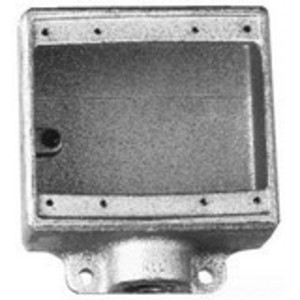 "Cooper Crouse-Hinds FD22 FD Device Box, 2-Gang, Dead-End, Type FD, 3/4"", Malleable Iron"