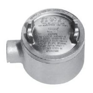 "Cooper Crouse-Hinds GUA24 Conduit Outlet Box, Type GUA, (1) 3/4"" Hubs, Malleable"