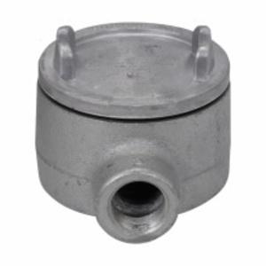 "Cooper Crouse-Hinds GUAB26SA Conduit Outlet Box, Type GUAB, (2) 3/4"" Hubs, Aluminum"