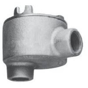 """Cooper Crouse-Hinds GUAB36 Conduit Outlet Box, Type GUAB, (2) 1"""" Hubs, Malleable"""