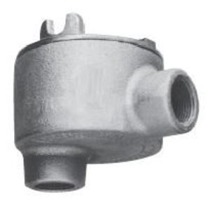"""Cooper Crouse-Hinds GUAB69 Conduit Outlet Box, Type GUAB, (2) 2"""" Hubs, Malleable"""