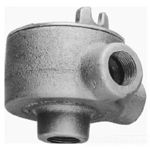 "Cooper Crouse-Hinds GUAM36 Conduit Outlet Box, Type GUAM, (3) 1"" Hubs, Malleable Iron"