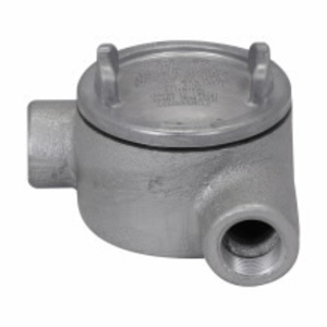 """Cooper Crouse-Hinds GUAN26 Conduit Outlet Box, Type GUAN, (2) 3/4"""" Hubs, Malleable"""