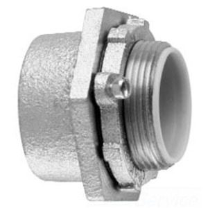 "Cooper Crouse-Hinds HUB1 Conduit Hub, 1/2"", Insulated, Gasketed, Malleable Iron"