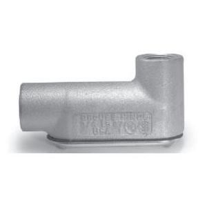 """Cooper Crouse-Hinds LB47CG Conduit Body With Cover/Gasket, Type: LB, Size: 1-1/4"""", Form 7"""