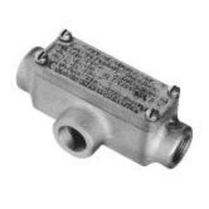 "Cooper Crouse-Hinds OET2 Explosionproof Conduit Body, Type: T, 3/4"" Malleable Iron"