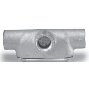 "Cooper Crouse-Hinds T47CG Conduit Body With Cover/Gasket, Type:: T, Size: 1-1/4"", Form 7"