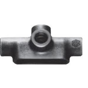 "Cooper Crouse-Hinds TA17 Conduit Body, Type: TA, Size: 1/2"", Form 7, Material: Iron Alloy"