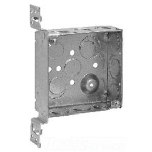 "Cooper Crouse-Hinds TP423 4"" Square Box, Welded, Metallic, 1-1/2"" Deep, Vertical Bracket"