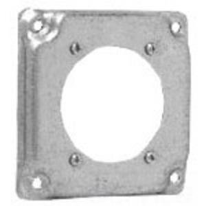 """Cooper Crouse-Hinds TP509 4"""" Square Cover, 1/2"""" Raised, 1 30 To 60 Amp Receptacle"""