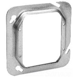 """Cooper Crouse-Hinds TP541 4-11/16"""" Square Cover, 2-Device, 1-1/2"""" Raised, Steel"""