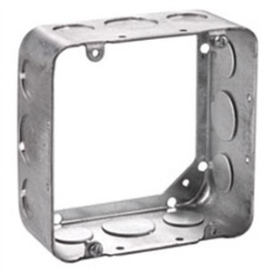 "Cooper Crouse-Hinds TP550 4-11/16"" Square Extension Ring, 1-1/2"" Deep, Drawn, Metallic"