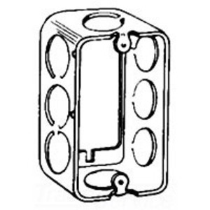 "Cooper Crouse-Hinds TP592 Handy Box Extension Ring, 1-1/2"" Deep, 1/2"" KOs, Drawn, Metallic"
