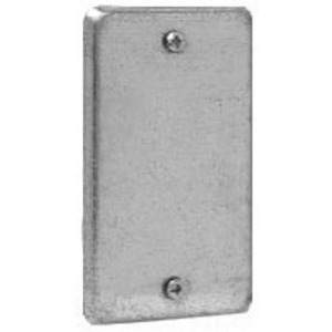 Cooper Crouse-Hinds TP608 Handy Box Cover, Type: Blank, Drawn, Metallic