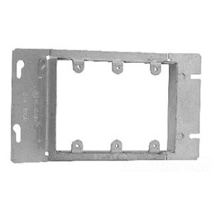 """Cooper Crouse-Hinds TP653 Gang Box Cover, 3-Gang, Raised 13/16"""", Length: 8-13/16"""", Steel"""