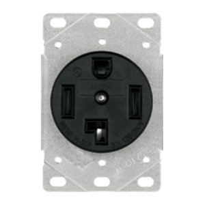 Cooper Wiring Devices 1257-SP Receptacle, 30A, 125/250V, 3P4W, 14-30R, Black