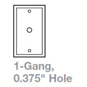 "Cooper Wiring Devices 2128W-BOX Telephone Wallplate, 1-Gang, .375"" Hole, Thermoset, White"