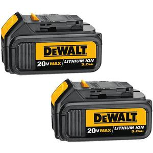 DEWALT DCB200-2 20V Lithium Battery, 2 Pack
