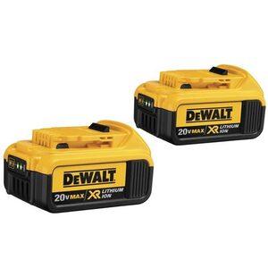 DEWALT DCB204-2 20V MAX* Premium XR Lithium Ion 2-Pack