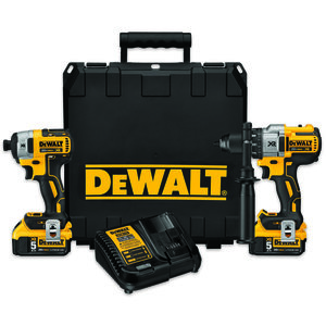 DEWALT DCK299P2 20V Lithium Ion Brushless Premium Hammerdrill & Impact Driver Kit