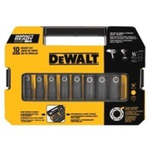 "DEWALT DW22812 1/2"" 10pc Impact Ready Socket Set"