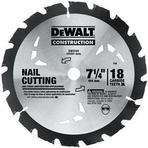 """DEWALT DW3591B10 7-1/4"""" Circular Saw Blade"""