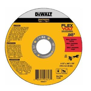 "DEWALT DWAFV845045 4-1/2"" Cutting Wheel"