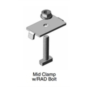DPW Solar MC-40-46-RAD-DPAC20 Module Mid Clamp, 40-46mm Thick Frame, Mill Finish