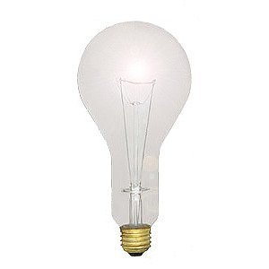 Damar 00442D Incandescent Bulb, PS30, 200W, 130V, Clear
