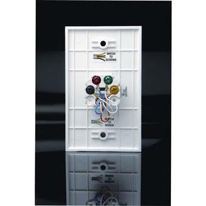 DataComm Electronics 20-1522 Telephone Wall Jack, 6P4C, 1-Gang, Mid-Size, White