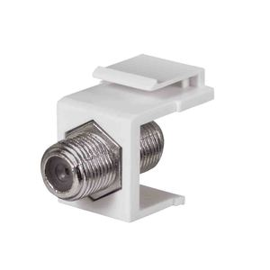 DataComm Electronics 20-3102-WH Snap-In Connector, Keystone, F-Connector, 1-GHZ, White