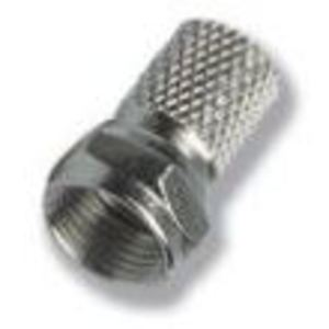 DataComm Electronics 30-1200 F-Connector, Male, Twist On, Crimpless, RG6