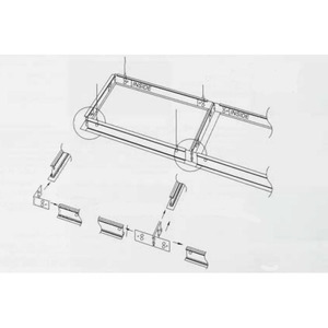 "Day-Brite FMA22 ""F"" Mounting Frame for NEMA ""F"" Mounting, 2' x 2'"