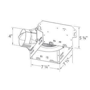 Delta Products ITG-A Universal Housing Only, Exhaust Fan